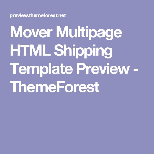 Mover Multipage HTML Shipping Template Preview - ThemeForest
