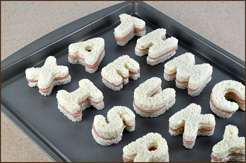 How to Host a Word World Birthday Party, letter sandwiches | Very Culinary