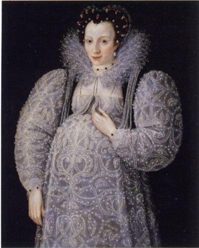 1500's Elizabethan England: pregnancy dress. I should wear this to Chelsea's bachelorette party hahaha!