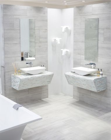 Woodlook ceramic tiles from Tile Africa come in a range of colour options.