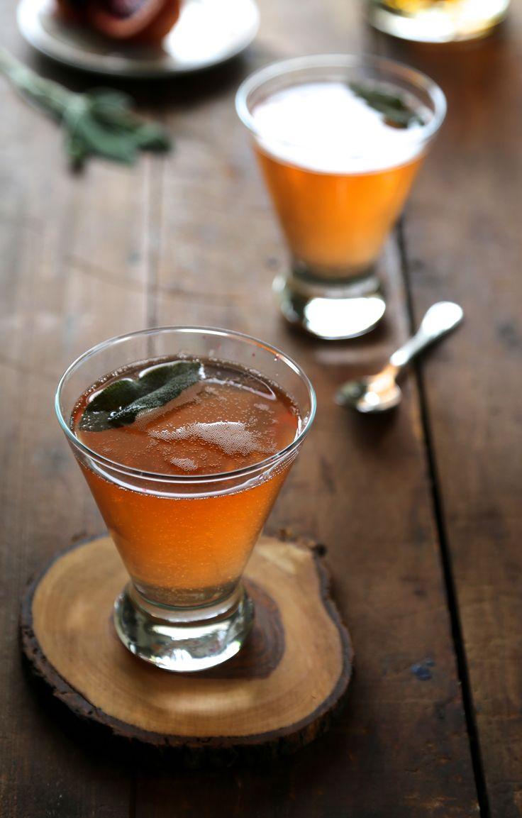 blood orange bourbon fizz with fried sage www.climbinggriermountain.com