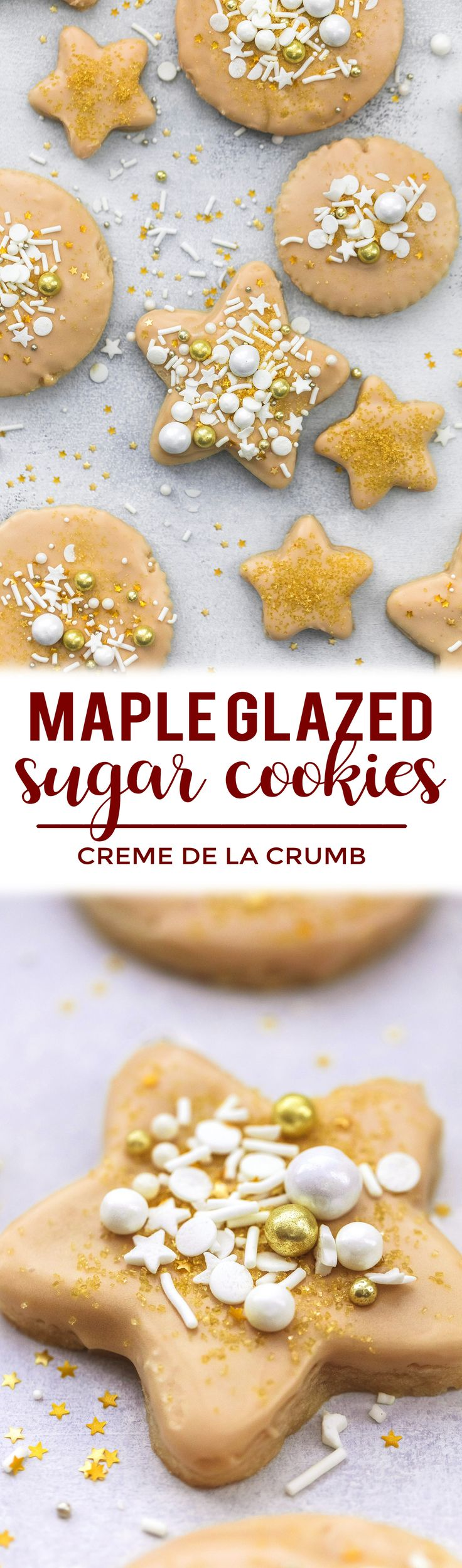 These easy, super soft cut out sugar cookies are perfect for decorating, with the best texture and a maple glaze to die for! @Crisco #Ad #BakeItBetter