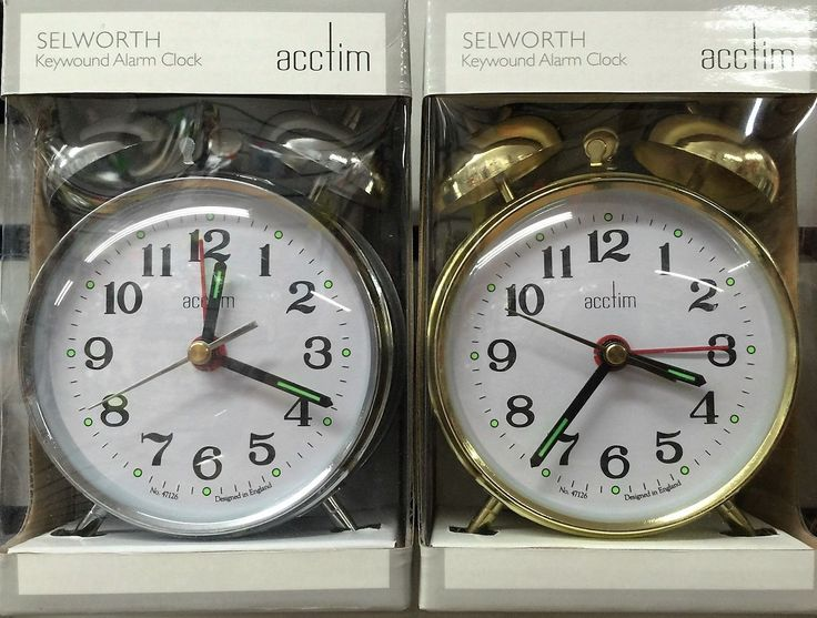 #Acctim selworth #double bell wind up alarm clock traditional #bedside keywound ,  View more on the LINK: http://www.zeppy.io/product/gb/2/181996502104/