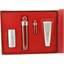 PERRY ELLIS 360 RED - Perry Ellis - SET-EDT SPRAY 100 ml & AFTERSHAVE BALM 90 ml & DEODORANT STICK ALCOHOL FREE 80 ml & EDT SPRAY 7 ml MINI - Parfum Miniaturen - TopParfumerie