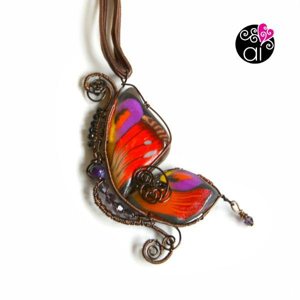 Ciondolo Farfalla Wire Wrapping