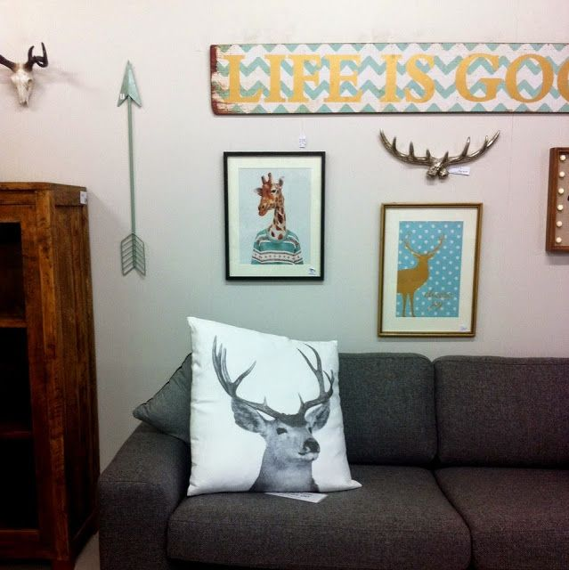 Love all this - #deer #antlers #trophies #rustic #rusticchic #lifeisgood Shop Tour: O.W.L – Objects We Love | Jafa Living