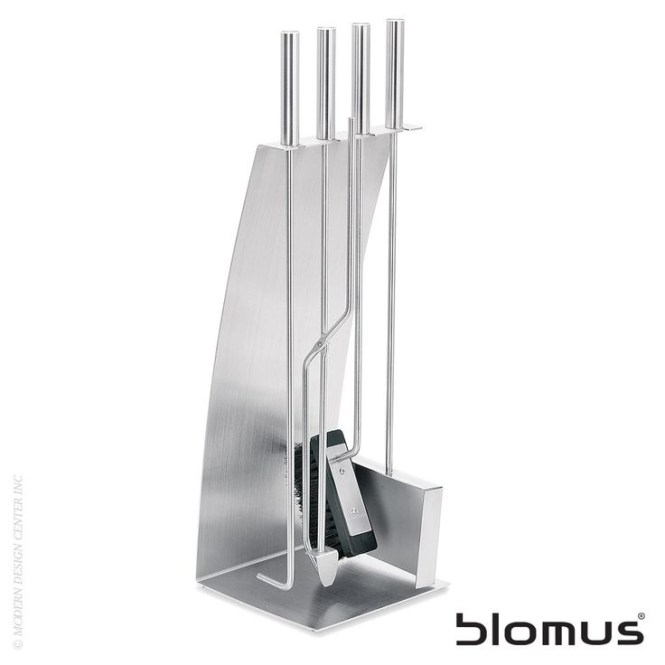 Blomus Chimo 5pc Fireplace Set Bow Front