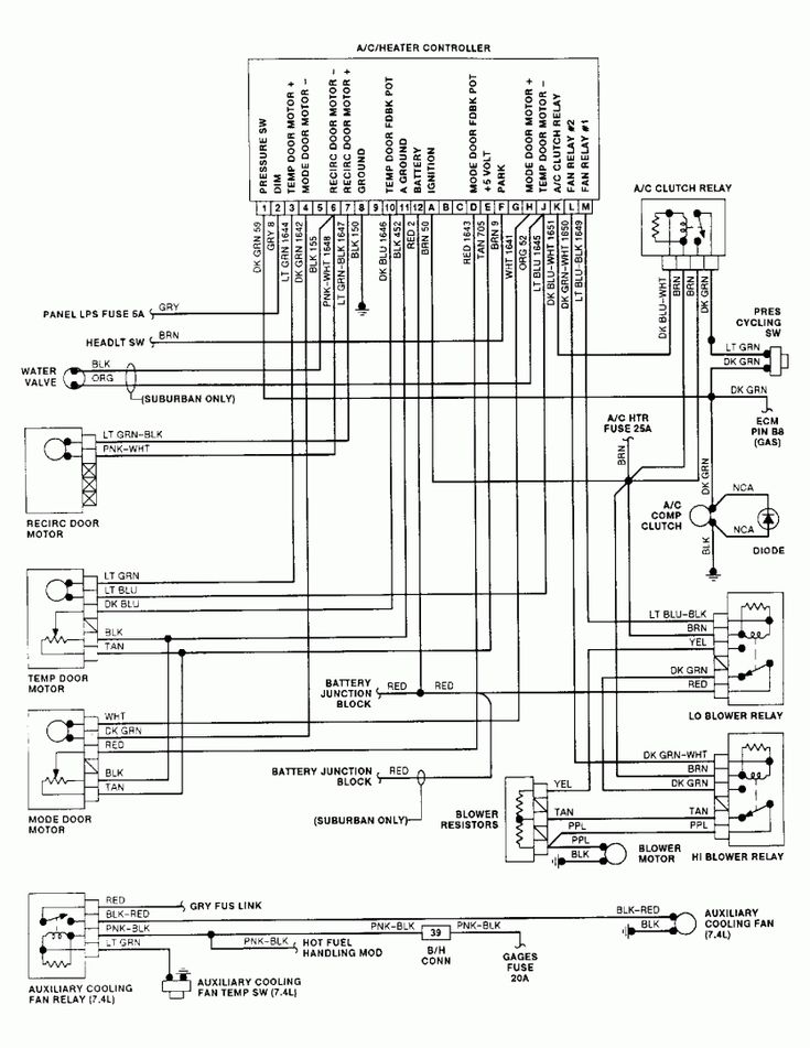 1992 3500Chevy Truck Wiring Diagram and Chevy Wiring ...