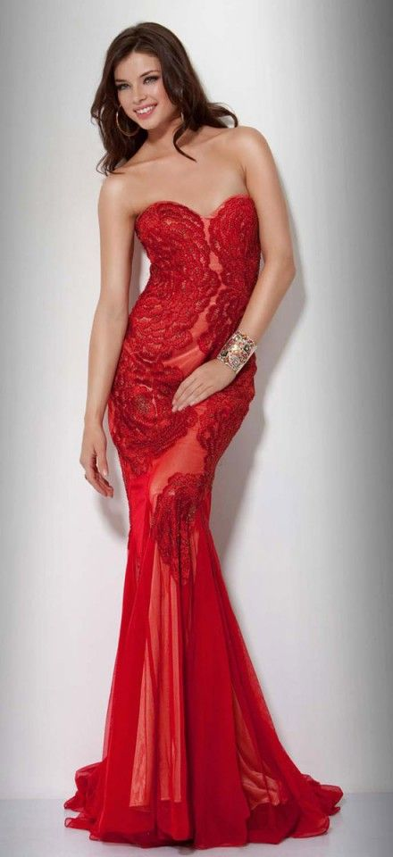 03841bed92 45 Stunning Colorful   Decent Evening Dresses. Mermaid SweetheartRed  Evening DressesBeautiful Evening GownsRed GownsDress PromLace ...