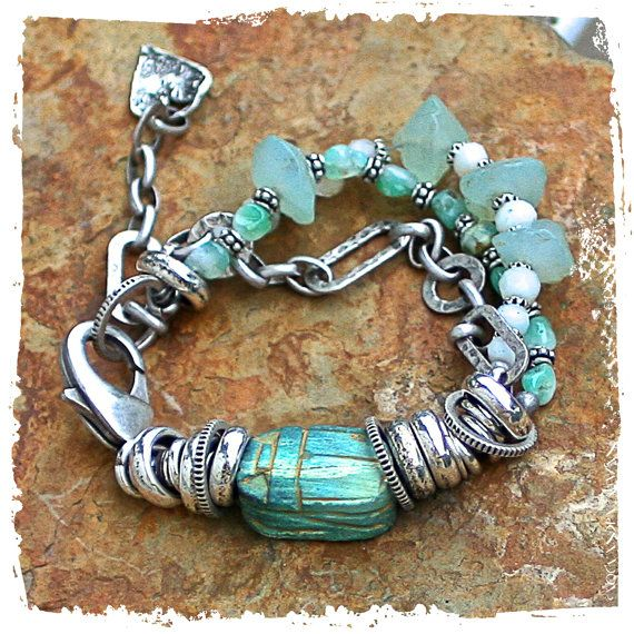 scarab bracelet by rocksandpaperswans on Etsy, $82.00