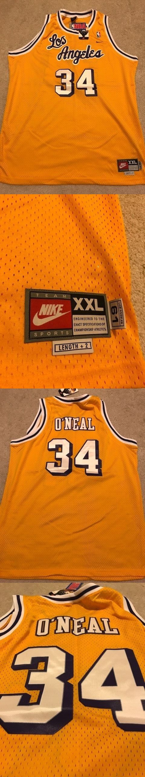 Basketball-NBA 24442: New Nike Los Angeles Lakers Throwback Jersey Shaquille O Neal Size 54 Showtime -> BUY IT NOW ONLY: $125 on eBay!