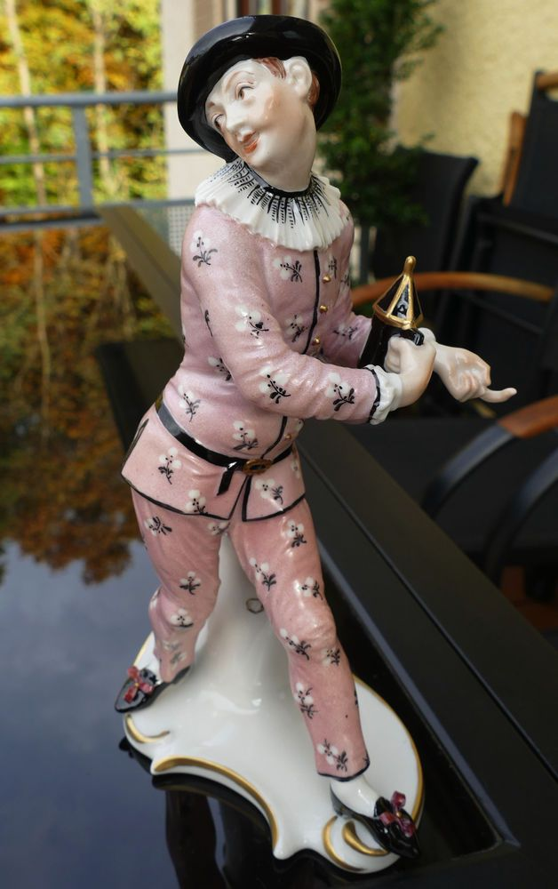 "Nymphenburg Porzellan Figur Bustelli "" Pierrot "" Commedia dell àrte  !!!"