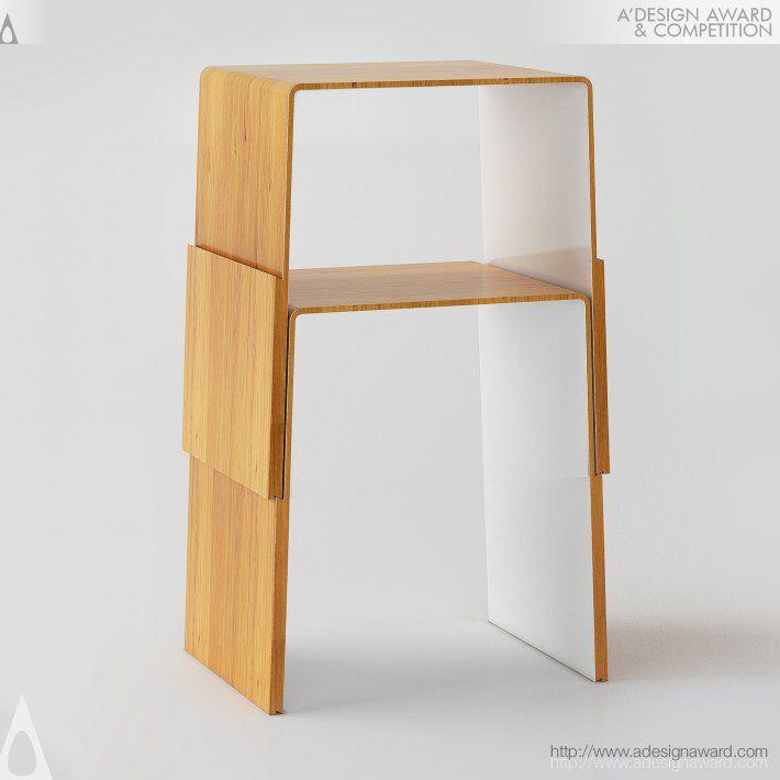 Multi Locust Multifunctional Stool Silver A' Design Award Winner for Furniture, Decorative Items and Homeware Design Category in 2015. more info http://tsigarasdesign.wix.com/tsigarasdesign