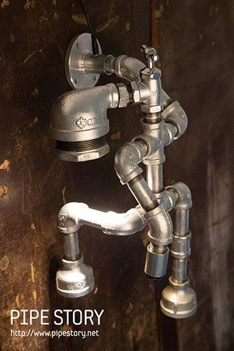 1000 ideas about pipe lamp on pinterest lamps. Black Bedroom Furniture Sets. Home Design Ideas