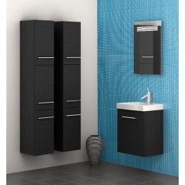 ideal f r das g ste wc scanbad multo waschplatz 50 schwarz. Black Bedroom Furniture Sets. Home Design Ideas