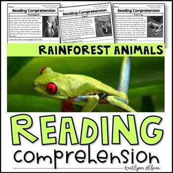 Rainforest Animals Reading Passages