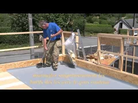 Etanchéité dune toiture terrasse sur élément porteur bois   Gripfix - YouTube