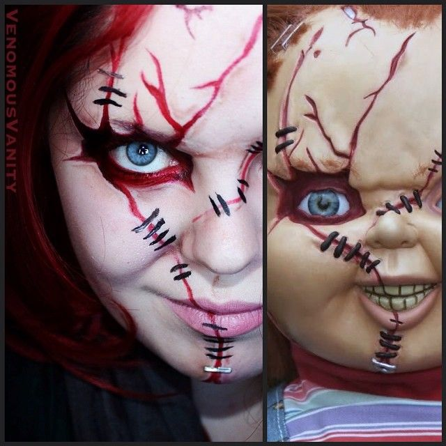 Best 25 chucky costume ideas on pinterest diy chucky costume chucky makeup i refuse to let the boys be cute for halloween anymore only scary stuff from now on solutioingenieria Choice Image