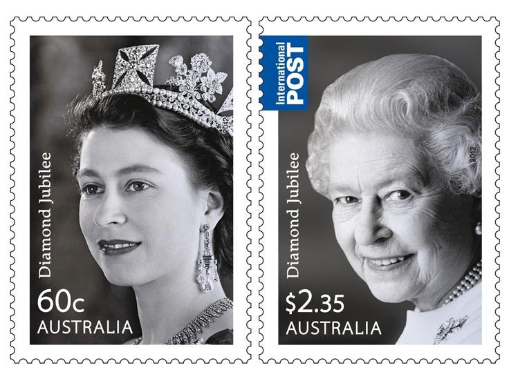 Queen's Diamond Jubilee - Set of stamps - Australia.