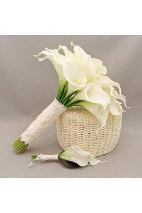 Bouquets de Noiva Mão-amarrado Encantadora Bouquets de casamento Lírio