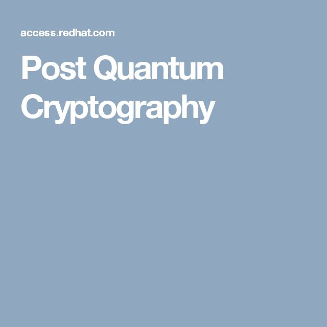 Post Quantum Cryptography
