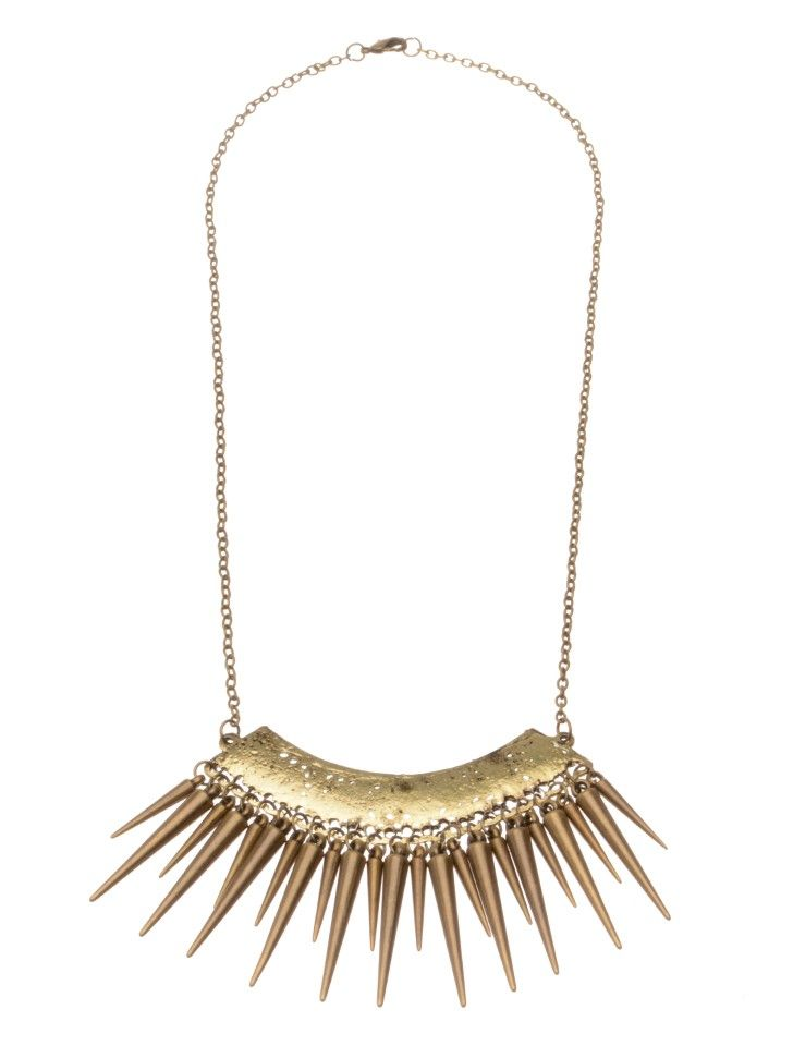 UNDISTURBED ROYALTY   Necklace with Spikes - Women - Style36  #RihannaStyle36
