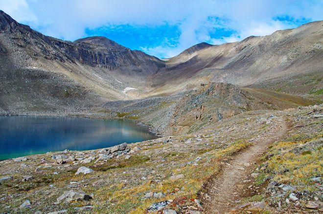 The crux of the Skyline Trail in Jasper National Park. Beautiful Hike!
