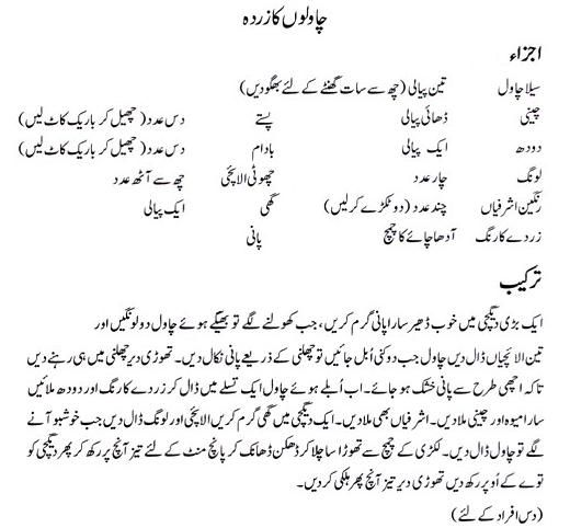 Zarda Recipe By Zubaida Tariq – Recipes in Urdu & English