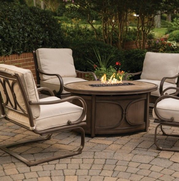 Kendall 5 Piece Fire Pit Chat Set. U2022 Available Online Only U2022 Rust Proof  Alumicast · Outdoor Fire PitsSunbrella FabricOutdoor FurnitureLuxury ...