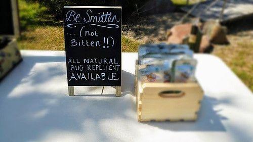 Wedding Chalkboard Sign - Bug Spray