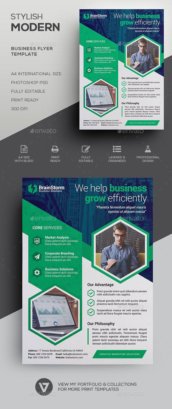 Stylish & Modern Corporate Business Flyer Template PSD