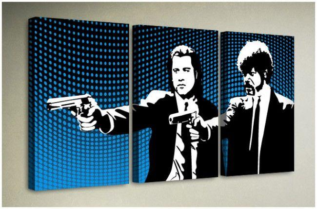 Triptych Canvas Artwork - Pulp Fiction