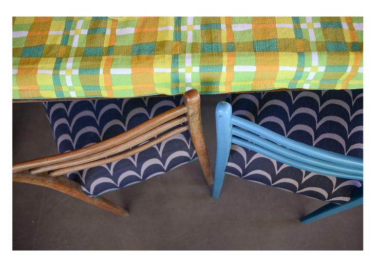 sillas de abuelos con tapizado Kom son una bomba!