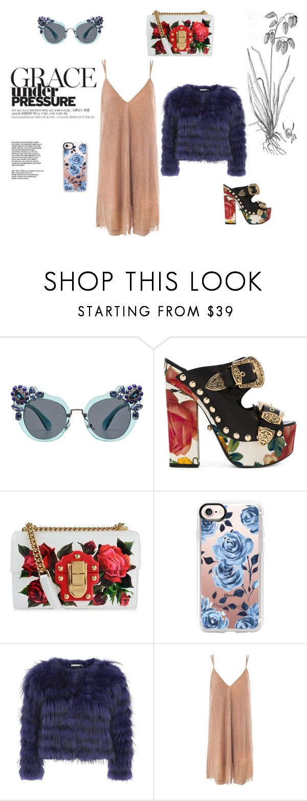 """""""Spice Up Your Style"""" by nerdygets on Polyvore featuring moda, Miu Miu, FAUSTO PUGLISI, Dolce&Gabbana, Casetify, Alice + Olivia i Sans Souci"""