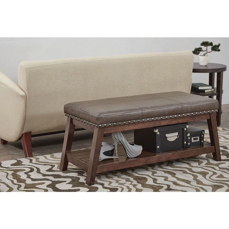 Office Star Ave Six Emery Bonded Rustic Entry Bench