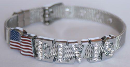 SEHR-EDEL-Armband-z-B-Elvis-USA-Fahne-NAME-King
