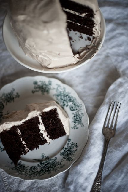 chocolate cake with salted buttercream frosting.