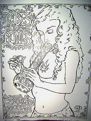babes and bongs coloring book 16 pages of adult marijuana coloring fun - Cannabis Coloring Book