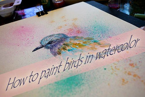 How to paint birds in watercolor. Part I