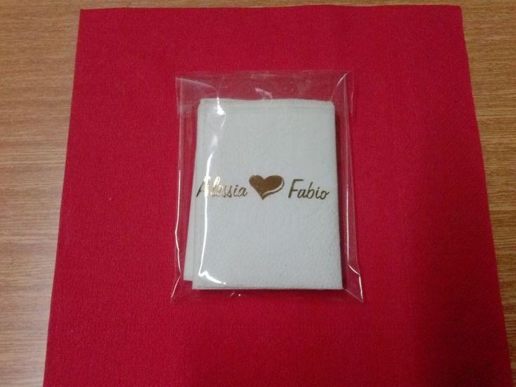 Fazzoletti matrimonio, lacrime di gioia fazzoletti personalizzati 50x3 + omaggio