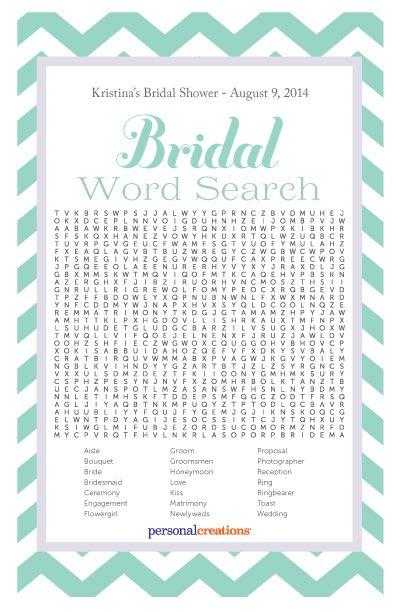 Bridal Shower Printables - Word Search #bridalshower #printables #bachelorette #bride #party #games