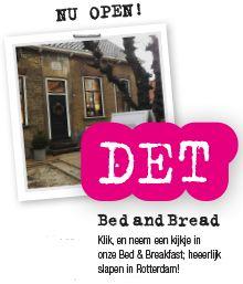Bed en Breakfast in Rotterdam. Ook gastvrij voor kinderen. Child friendly B&B :-) http://detbedandbread.nl/en/