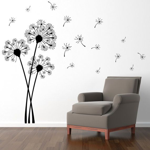 Dandelion Wall Decal  Extra Large Decal by StephenEdwardGraphic, $72.00