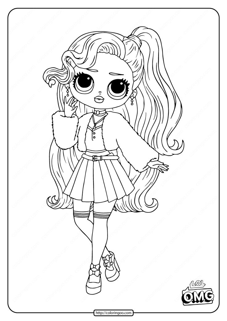 LOL Surprise OMG Pink Baby Coloring Page in 2020 Baby