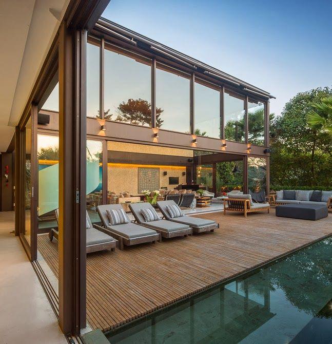 56 mejores im genes sobre piscinas en pinterest for Casa minimalista harbor view hills arquitecto laidlaw schultz california