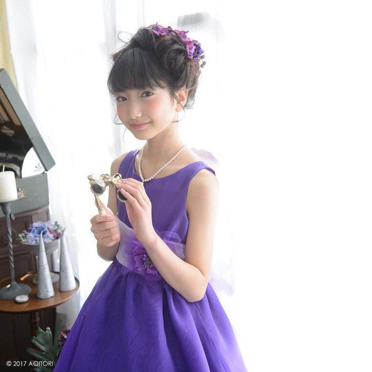 上品で色鮮やかなパープルしっとり落ち着いた印象です  #子供#子ども#発表会ドレス #子供ドレス #音楽 #ピアノ教室 #ピアノ#バイオリン#フルート#チェロ#ピアノ発表会#ピアノコンクール#ピアノドレス#女の子#女の子ママ #子供ドレス#子どもドレス青い鳥