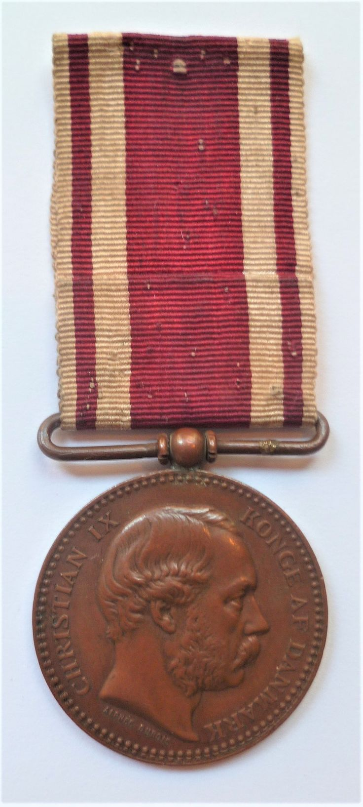 Danish Campaign Medal for 1864 Christian IX In bronze