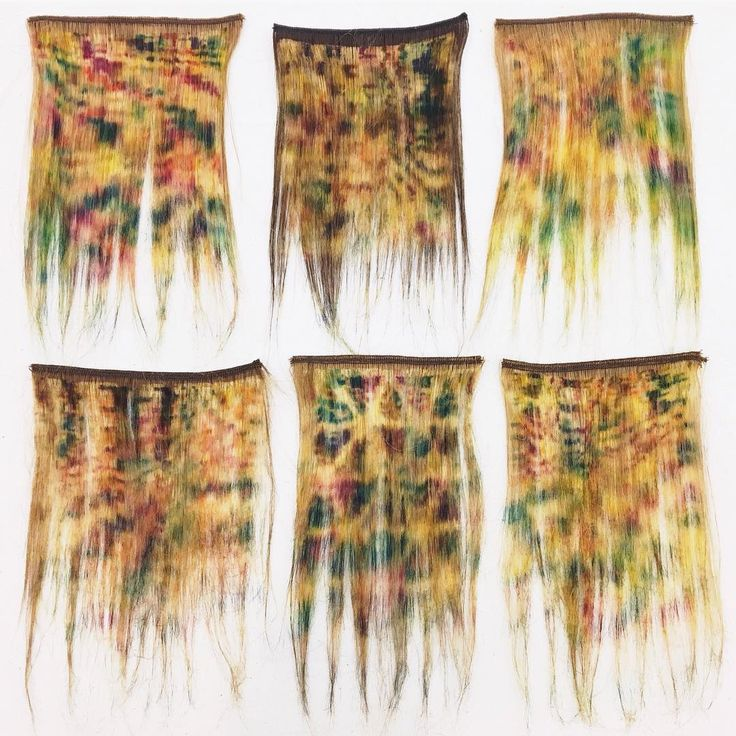 """507 Likes, 8 Comments - Textile Arts Center (@textileartscenter) on Instagram: """"Bleached, screen printed, and dyed hair samples by #AIRcycle8 resident, Vien Le Wood…"""""""
