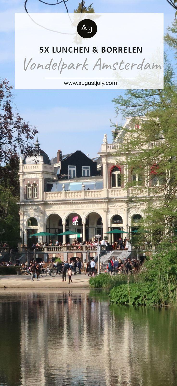 In het Vondelpark in Amsterdam kun je heerlijk lunchen en borrelen. Er zijn 5 plekken waar dat kan en er is zelfs een openluchttheater!