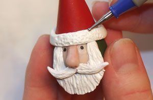 Tattletale Santa - full how to. As figurine or as an ornament. Easy. #polymer #clay #tutorial